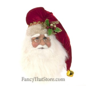 Santa Head Wall or Door Hanger by Karen Didion