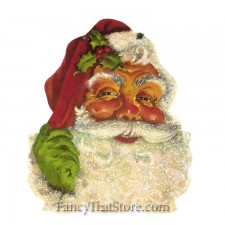 Retro Santa Plaque by Christopher James