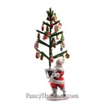 Retro Santa with Tree and Mini Glass Ornaments