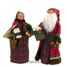 English Countryside Santa and Mrs. Claus by Byers' Choice