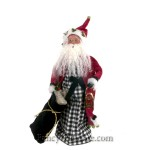 Black and White Check Santa by Byers' Choice