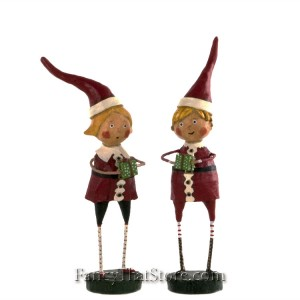 Santas Little Helpers by Lori Mitchell Set of 2