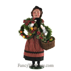 Crier Selling Wreaths by Byrs' Choice