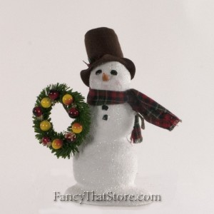 Snowman with Wreath
