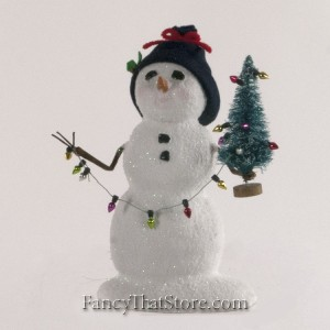 Snowman with Lights by Byers' Choice