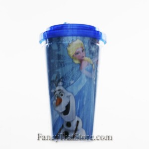 Olaf Flip Straw Cold Cup with Glitter