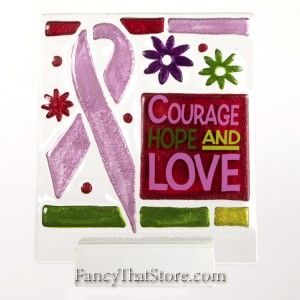 Courage Hope and Love Plaque by Lori Siebert