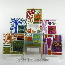 Glass Fusion Plaques by Lori Siebert