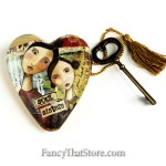 Soul Sisters Art Heart by Kelly Rae Roberts for Demdaco