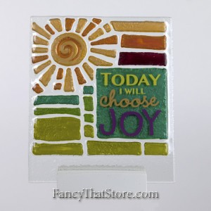 Today I Choose Joy Plaque by Lori Siebert