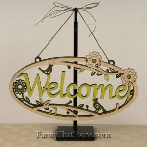Woodland Welcome Plaque