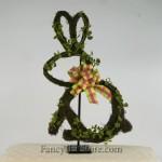 Moss Rabbit Wreath Sitting