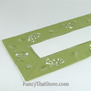 Lime Bunnies Table Runner