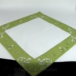 Lime Bunnies Table Topper