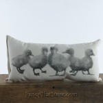 Baby Ducklings Pillow by Eric and Christopher
