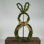 Moss Rabbit Wreath Standing
