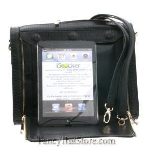 Black Reptile iPad Cross Body Bag from Hang Accessories
