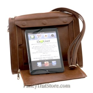 Cognac iPad Cross Body Bag from Hang Accessories