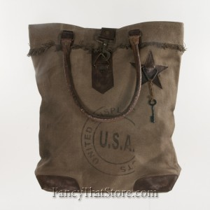 USA Stamped Canvas Tote Bag from Mona B
