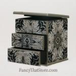 Three Tier Artisan Jewelry Box from Peru