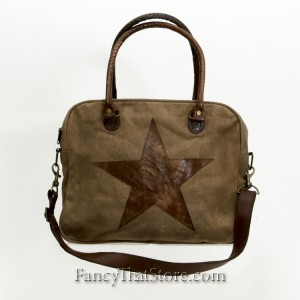 Starred Cross Body Canvas Bag from Mona B