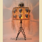 Gothic Glow Skull Table Lamp 1950's
