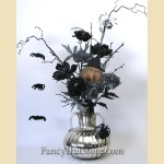 Black Magic Halloween Floral Arrangement